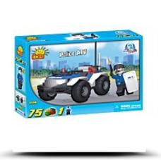 New Action Town Police Atv 75 Piece Building