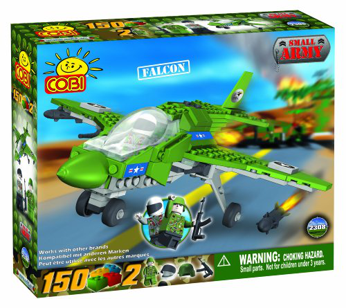 Cobi Small Army Falcon Plane, 150 Piece Set