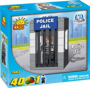 New! Cobi Action Town Police Jail 40 Piece Building Block Set